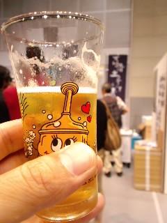 2011,09,04_1214吉備土手下の「瑞穂国」ややアルコール感あるがうまい。食べながら飲みたい 「カモミールの風」もやはりうまし
