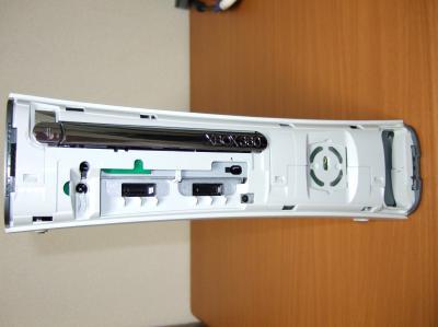 Xbox 360 フェイスプレートの取り外し