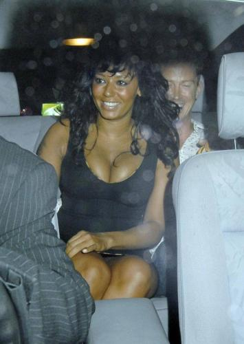 Melanie Brown - Cleavage and Upskirt s009