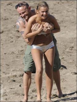 Kerry Katona - Topless Beach s11