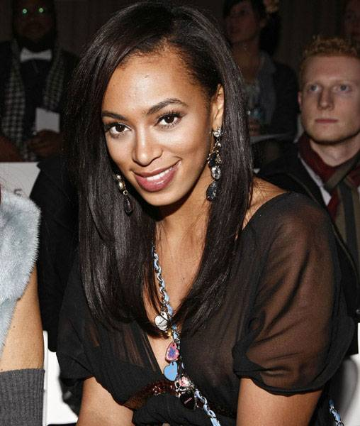 Solange Knowles - See Thru Nip Slip- Toni Maticevskis fashion show in NYC a01