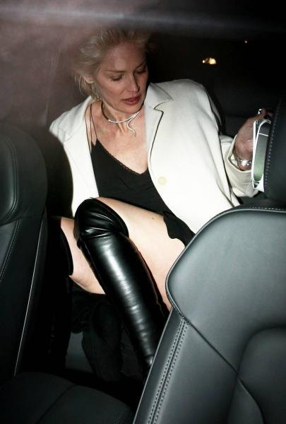 Sharon Stone leaving Annabels nightclub in London s06