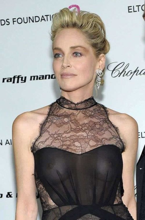 Sharon Stone - Elton John AIDS Foundations Academy Award Viewing Party s02