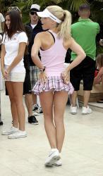Kendra Wilkinson - upskirt golfing c1