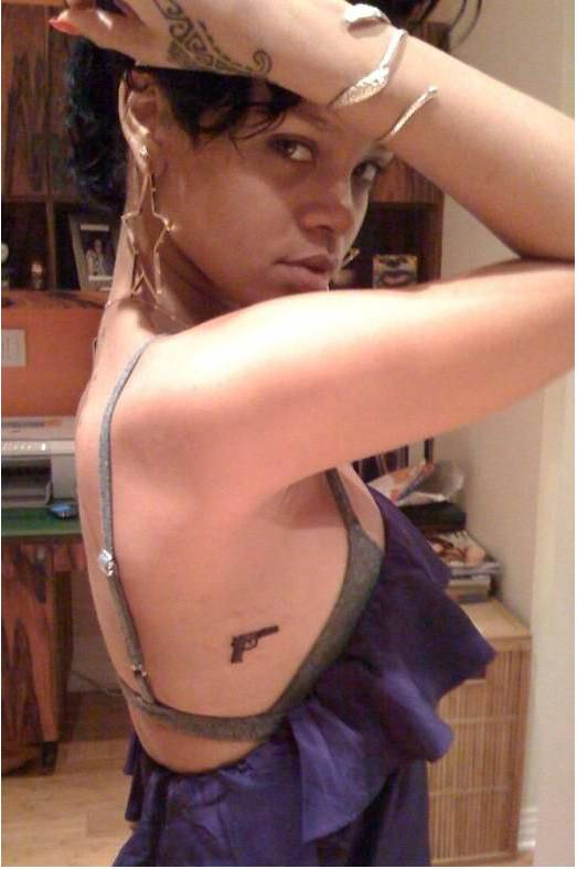Rihanna - New Gun Tattoos 2