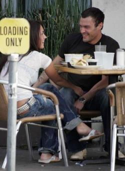 Megan Fox With Brian Austin in Public xnews05