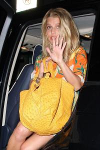 Jessica Simpson - Upskirt leaving Beso in Hollywood a08