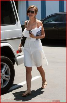 Audrina Patridge - see thru white dress 2