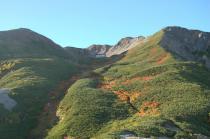藪沢カールを抱いた仙丈ヶ岳1