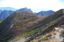 仙丈ヶ岳山頂から1