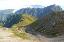 仙丈ヶ岳山頂から2