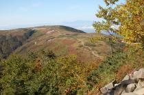 薬師岳登山道から見る太郎平小屋方面