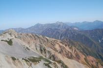 薬師岳山頂から1