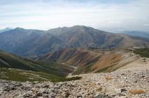 黒部五郎岳への稜線