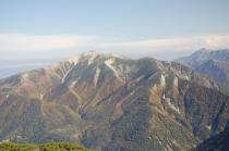 黒部五郎岳から見る薬師岳
