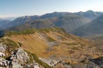 黒部五郎岳山頂から見る北ア連山1