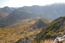 黒部五郎岳山頂から見る北ア連山2.