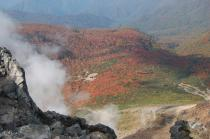 茶臼岳山頂からの姥が平