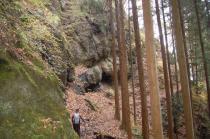 釜沢口への登山道