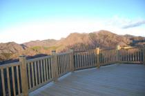 展望台から見る奥久慈の山々