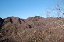 稜線から見る奥久慈の山々