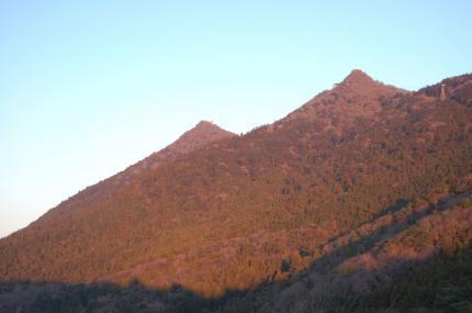 風返峠からの筑波山