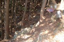 滝コース登山口への分岐