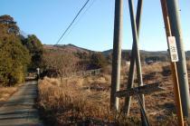 羽梨山神社付近から見る舘岸山方面