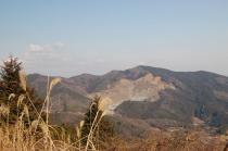 難台山下山路からの加賀田山