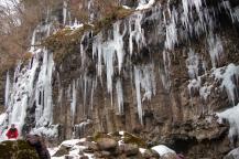 スッカン沢の氷壁1