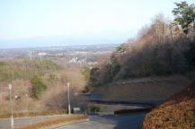 窯眺橋から見る日光連山