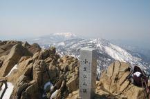 小至仏山頂から笠が岳方面