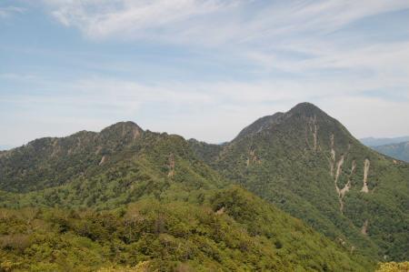 皇海山と鋸山