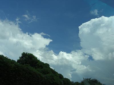 雲がきれいだった