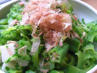 ゴーヤと長芋のサラダ