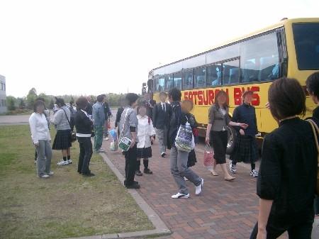 行きと同じバスだよ。