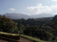 小川岳~向坂山の稜線を望む