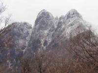 千間山からの傾山