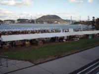 会場と関門海峡