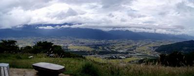 安曇野を望むワイド画像@長峰山