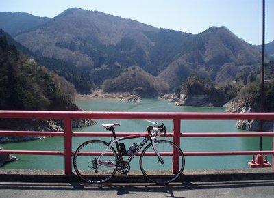 金比羅橋にて@神流湖