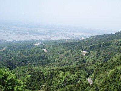 筑波山からの眺望2(筑波山神社方面)