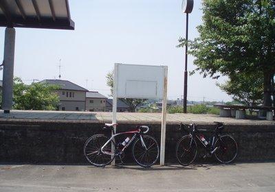 筑波駅跡のホーム@筑波山口