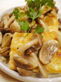 キノコ豆腐