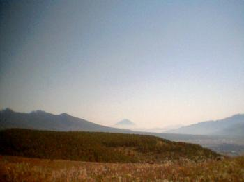 富士山と八ヶ岳4001