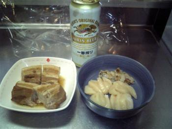 角煮とホタテ