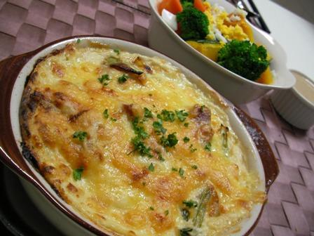 チキン豆腐グラタン