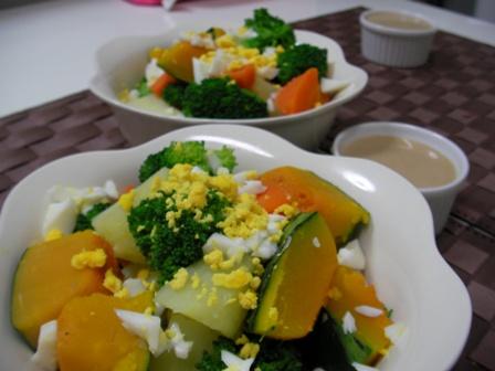 温野菜&ゴマドレッシング
