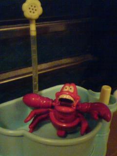 セバスチャン入浴中