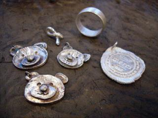 silver charms and ring
